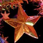 Photo d'une étoile de Noël